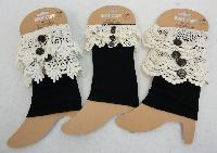 Boot Cuffs [Black with Antique Lace Assortment]